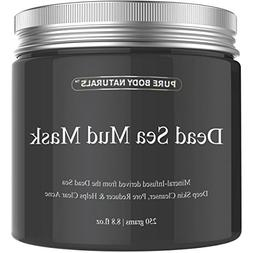 Pure Body Naturals Dead Sea Mud Mask for Face and Body, Puri