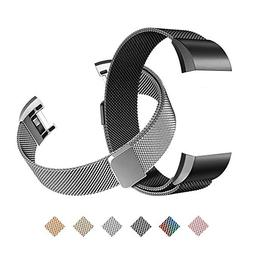 Tecson Magnetic Bands Compatible Fitbit Charge 2 , Stainless