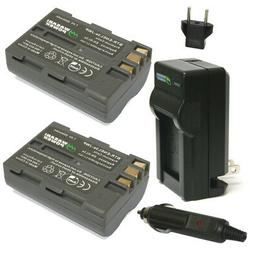 Wasabi Power Battery  and Charger for Nikon EN-EL3e and Niko