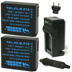 Wasabi Power Battery  and Charger for Panasonic DMW-BLE9, DM