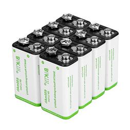 BAKTH 9V Advanced Li-ion Battery 9 Volt 650mAh High Capacity