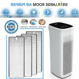 Air Purifiers for Large Room Allergies Mold Smoke True HEPA
