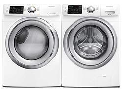 Samsung Appliance White Front Load Laundry Pair with WF42H52