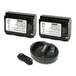 Wasabi Power Battery  and Dual Charger for Sony NP-FZ100 a9,