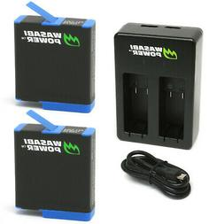 Wasabi Power Battery  and USB Dual Charger for GoPro HERO8 B