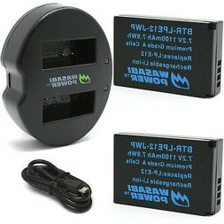 Wasabi Power Battery  and Dual USB Charger for Canon LP-E12