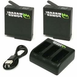Wasabi Power Battery  and Triple USB Charger for GoPro HERO7