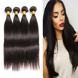 Brazilian Human Hair Straight 4 Bundles 14 16 18 20 Inches S
