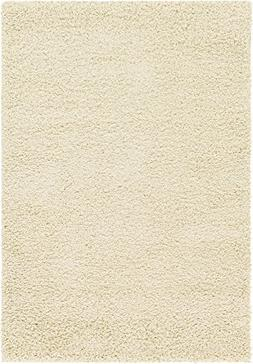 A2Z Rug Cozy Shaggy Collection 4x6-Feet Solid Area Rug - Pur