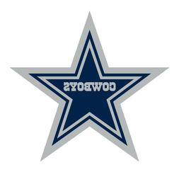 Dallas Cowboys 2 PACK NFL Decal Sticker - You Choose Size -