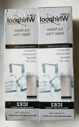 Genuine Whirpool Ice 2 Ice maker Water Filter F2WC9L1 2 pack