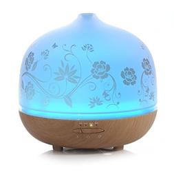 Ellestfun 500ml Glass Aromatherapy Essential Oil Diffuser, I