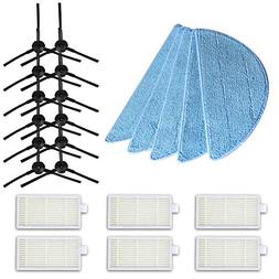 HH 12pcs side Brush  +6pcs hepa Filter+5pcs Mop Cloth for ch