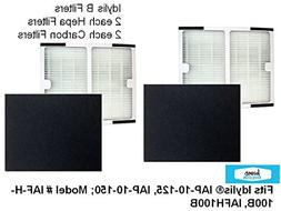 2-PACK Idylis B HEPA Air Purifier Filter PLUS 2-PACK CARBON