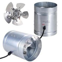 """2 Pack 6"""" Inline Duct Booster Fan 260CFM Cooling Exhaust Blo"""