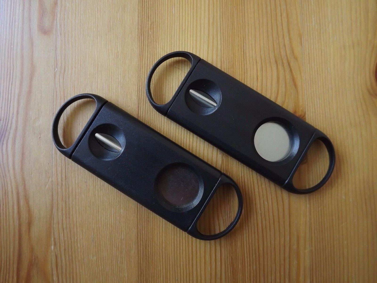 2 Pack 2 in 1 Guillotine & V Cut Cigar Cutter Premium Qualit