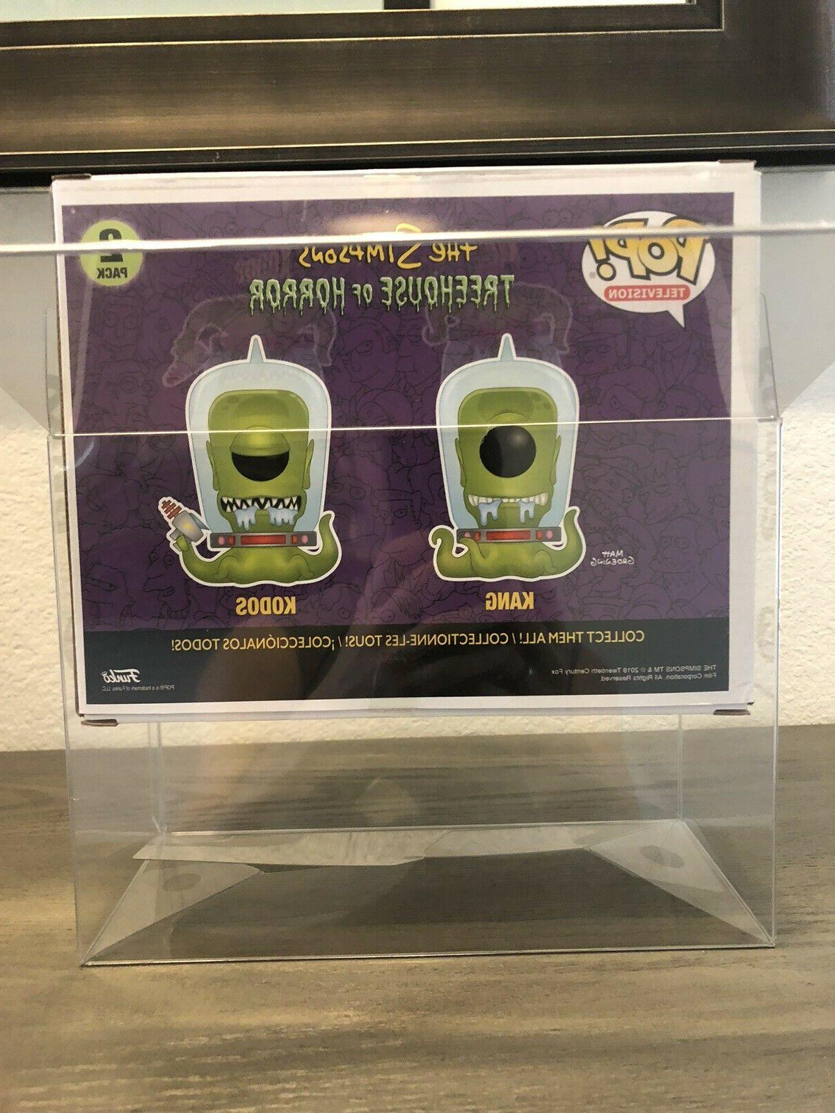 1 KANG & KODOS Funko 2-Pack 0.50mm Box Protector Free Clear Case