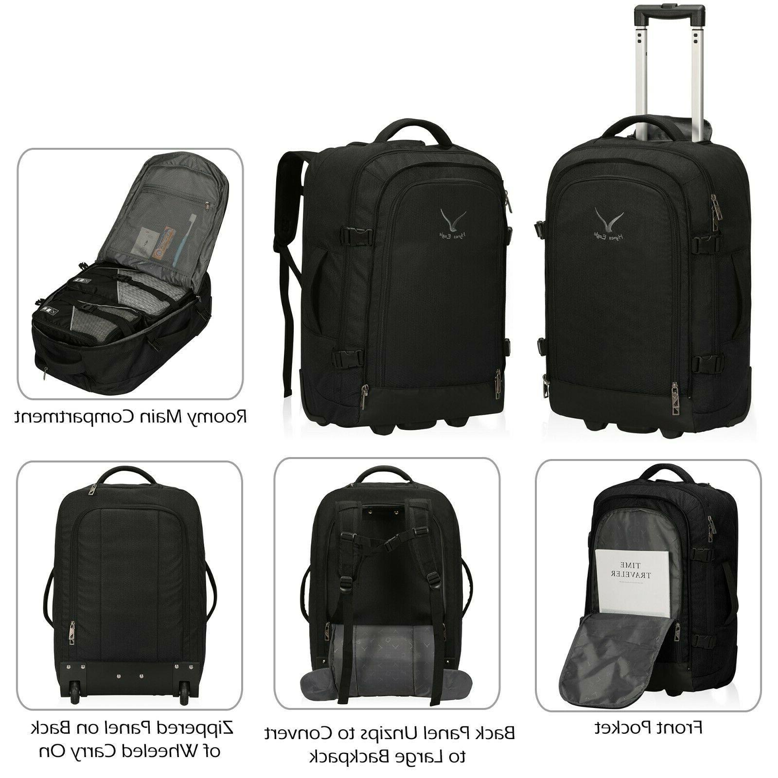 Hynes Eagle 1 Travel Backpack Carry on Wheeled Luggage Packing Cube