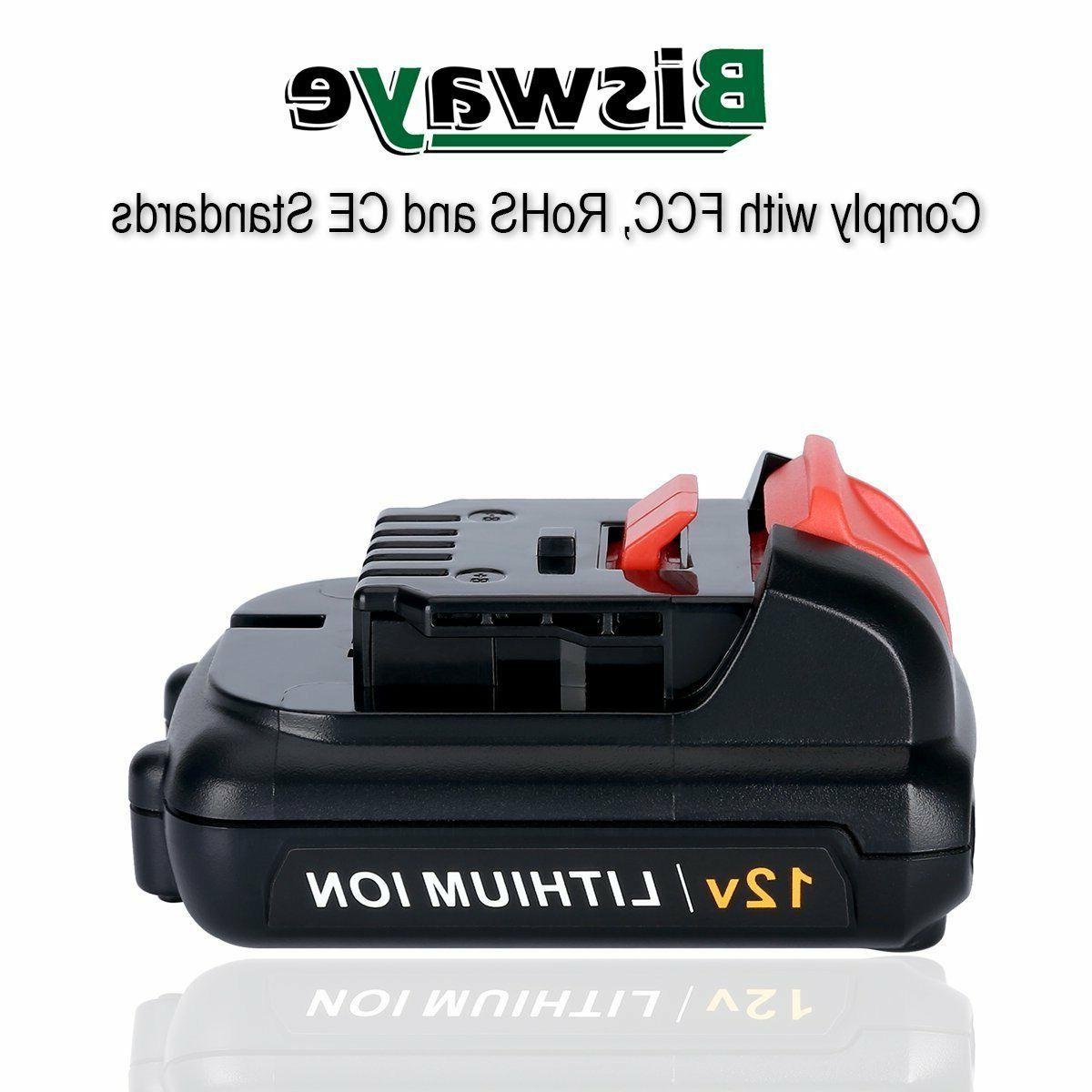 2 12V Lithium ion Replacement for Dewalt DCB121