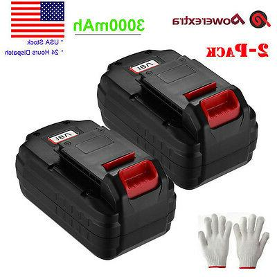 2 pack 18v 3 0ah nicd replacement