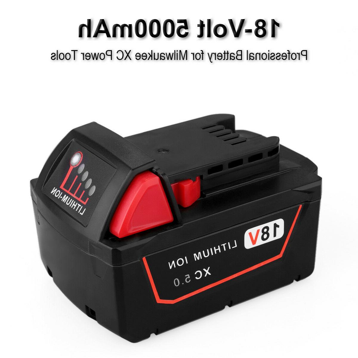 2 Pack Li-ion Battery for Milwaukee M18 M18B