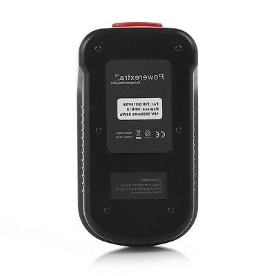 2 Powerextra 3700mAh Battery Black Decker FS18BX FS180BX US