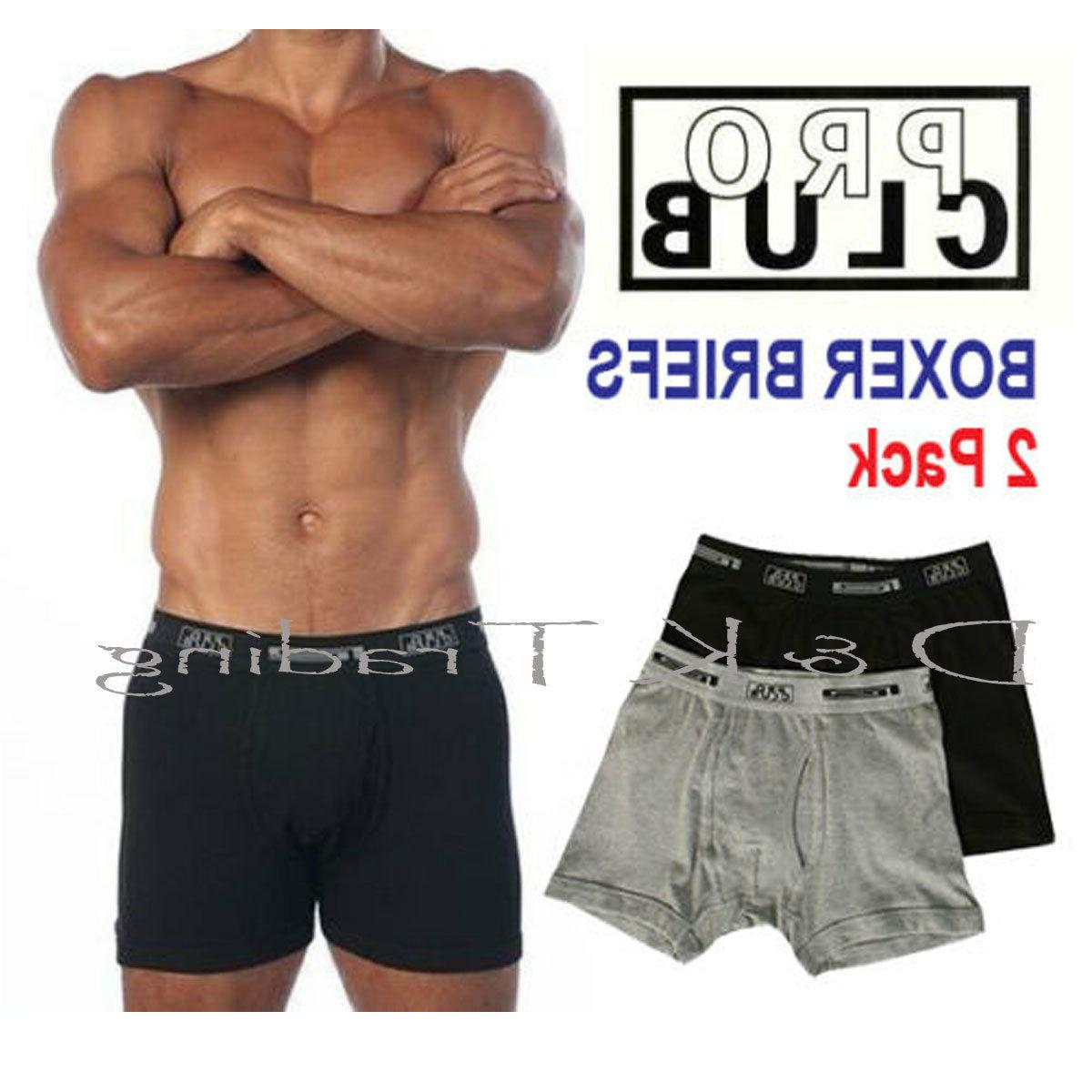 2 pack boxer briefs cotton proclub men