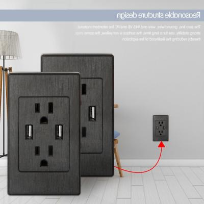 Dual USB Outlet Charger Port Socket 15A Receptacles