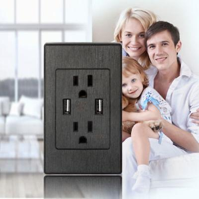 Dual Wall Outlet Charger Port 15A Receptacles