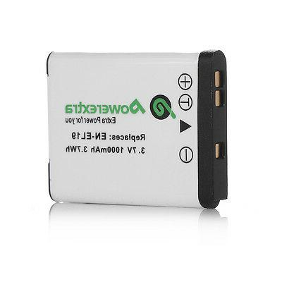 Powerextra Pack ENEL19 Battery For Nikon S33 S3700 S3500
