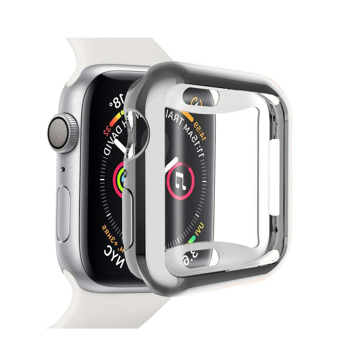 2 Pack Apple Watch Series Screen Protector Soft Case Cover