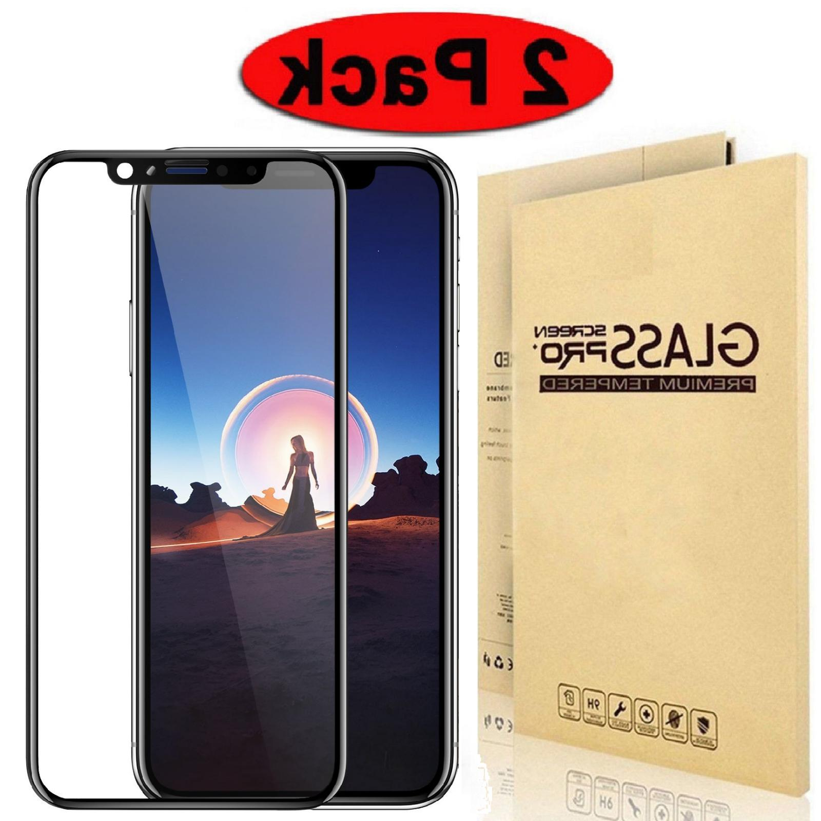 2-Pack Tempered Glass for iPhone X Xs Max