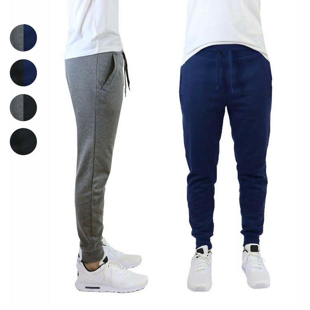 2 pack mens french terry slim fit