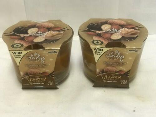 2 pack new 3 wick candle nutcracker