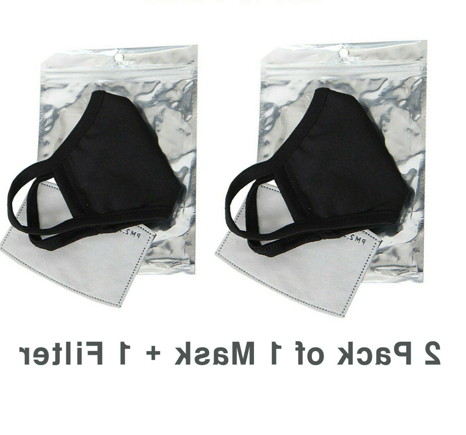 2 Pack of Protective 3D Mask with Filter Pocket and Carbon Filters