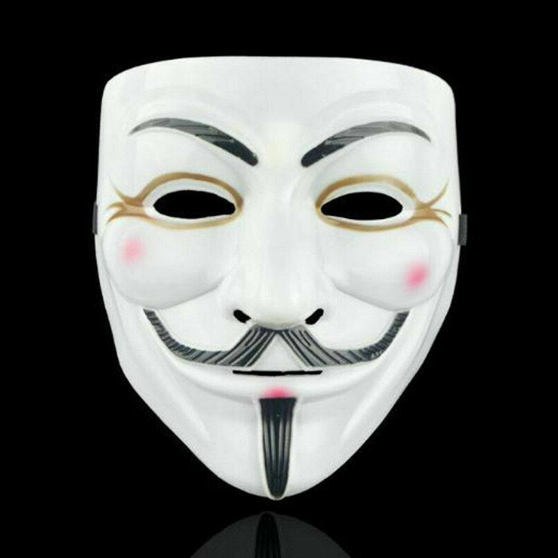 2 Pack of for Vendetta White Fawkes Anonymous Costume