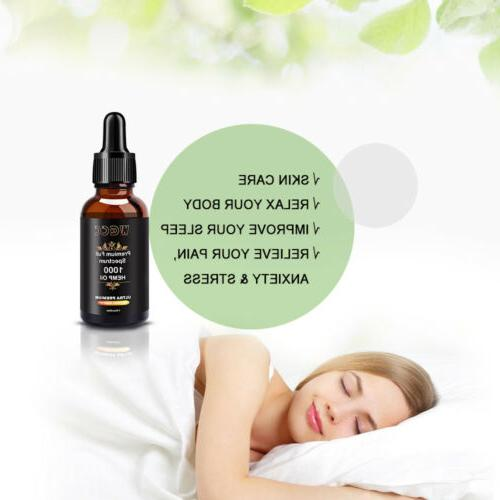 2 Oil Extract Pain Reduce Stress 1000mg