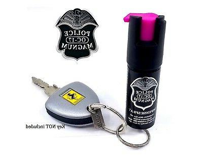 4 PACK Police Magnum pepper 1/2oz Keyring Defense Security Protection