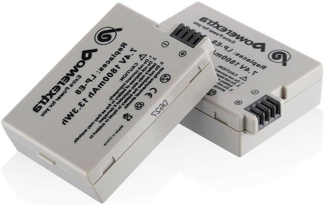 2 pack replacement canon lp e8 battery