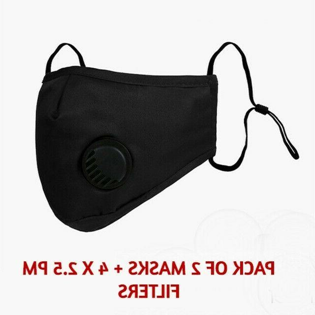 2 pack reusable washable cloth face mask