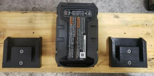 **2 Pack** Ridgid Wall/Under Battery Mount