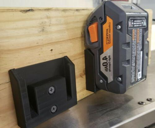 2 pack ridgid 18v wall under shelf