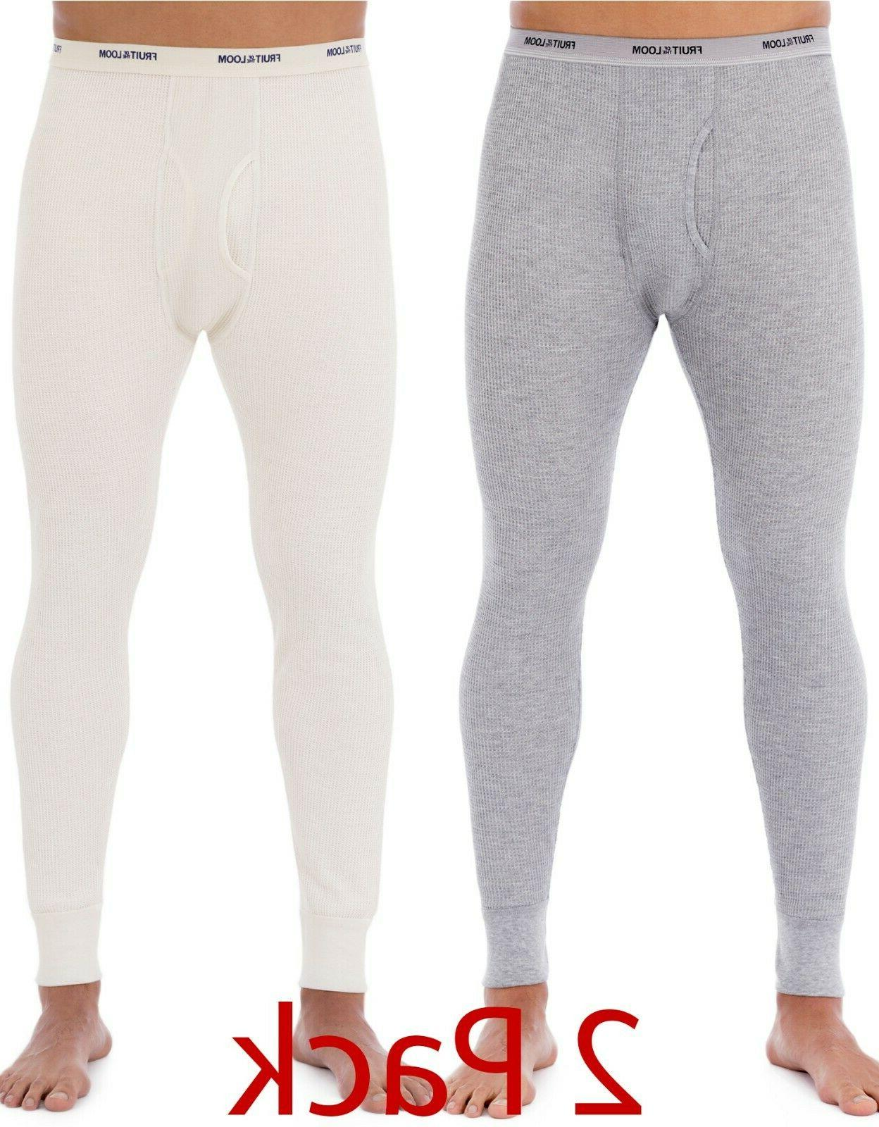 2 pack thermal underwear long johns waffle