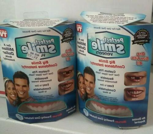 2 Pack Perfect Smile Veneers One Size Fit All Custom Fit wit