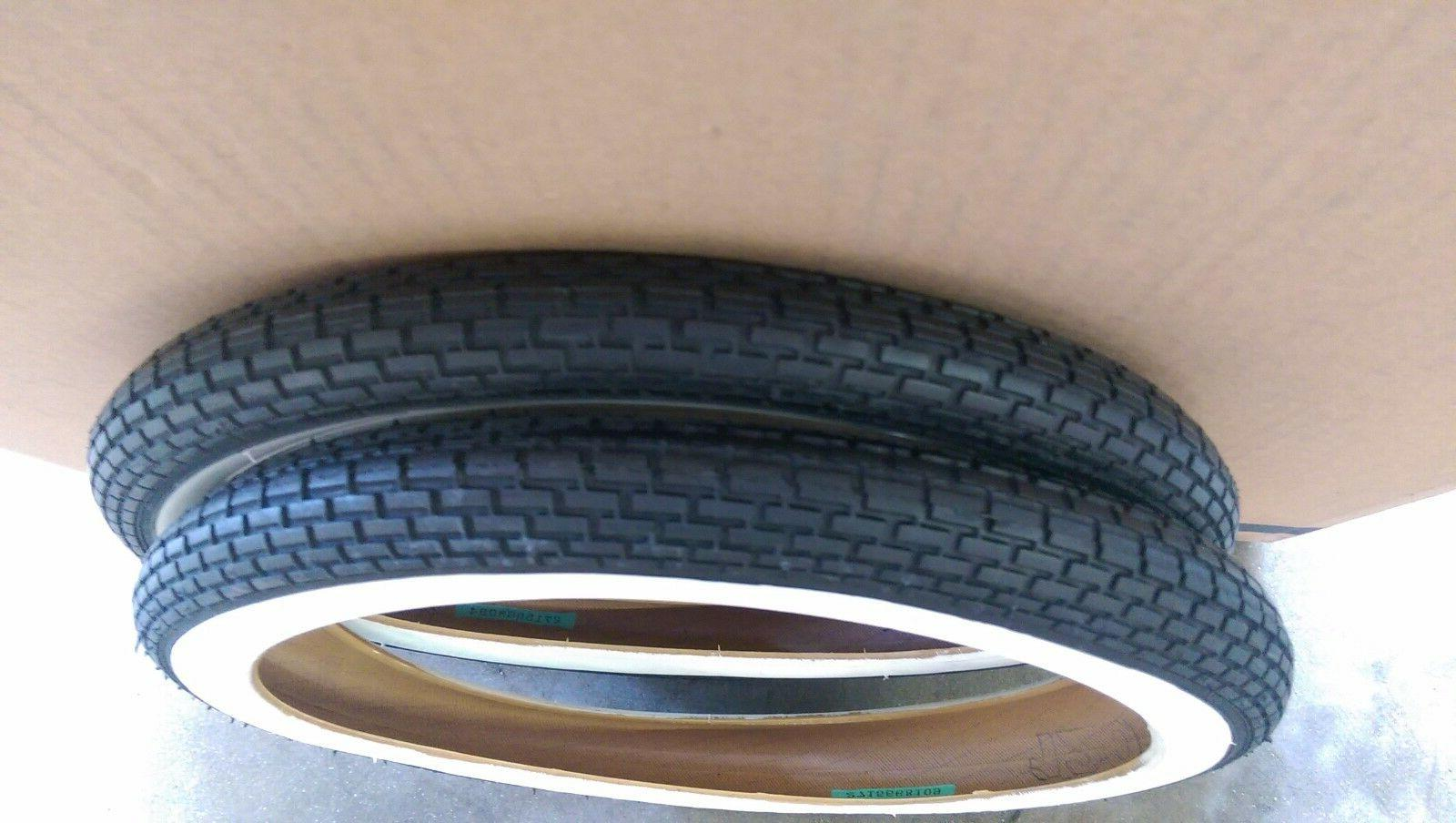 "2pack Tires+tubes 16"" 1.75 WhiteWall Tires Brick Thread"