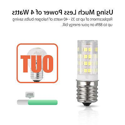 2Pack 120V E17 Base Microwave Replacement Warm/White Bulb