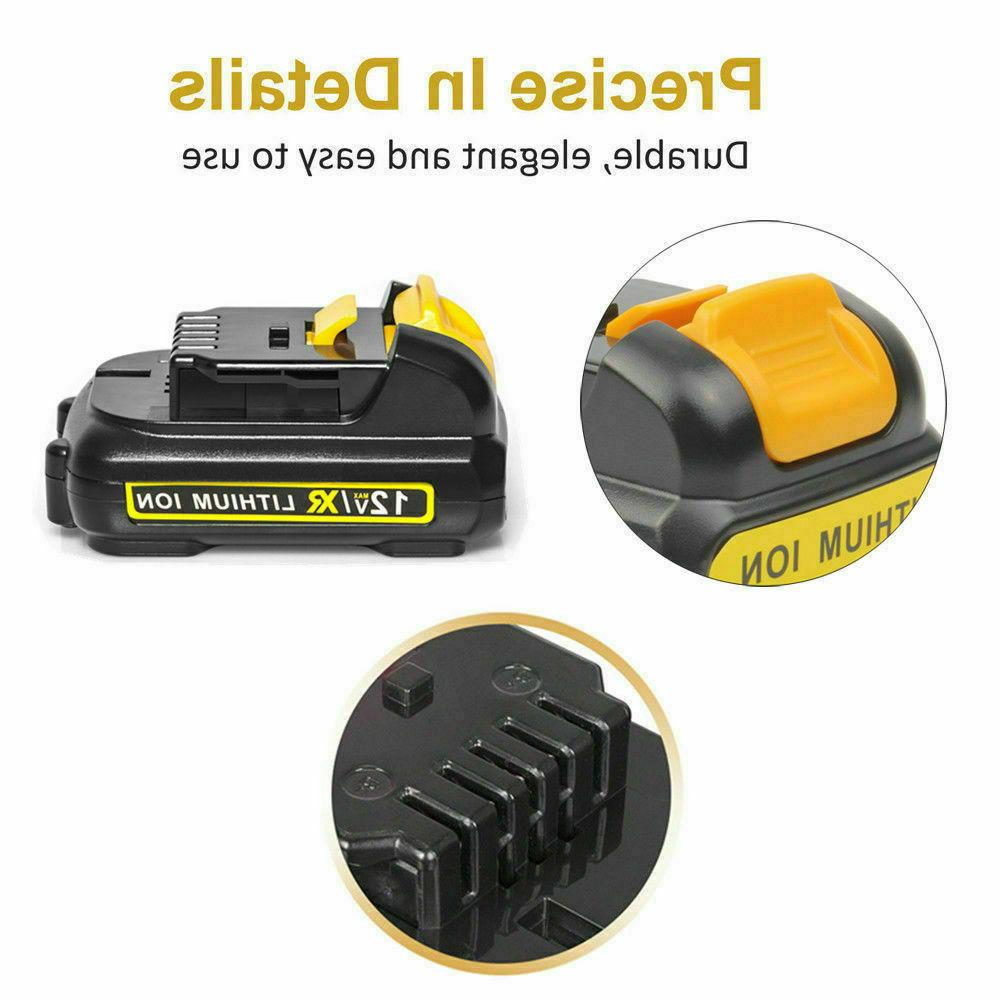 2Pack 12V XR Lithium-ion Replacement Battery Dewalt DCB120 DCB127 DCB121