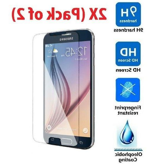 2X  Premium Tempered Glass Clear Screen Protector for Samsun