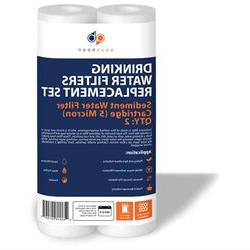 2 PACK of 5 Micron 10 Inch. Sediment Water Filters For Any S
