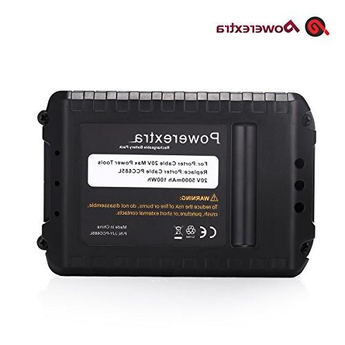 -Powerextra Pack 5.0Ah 20 Lithium Replacement Battery for PCC685L Porter 20v Lithium